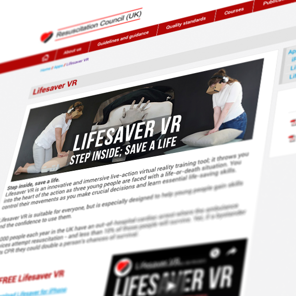 Lifesaver VR - FREE on-line training tool 4