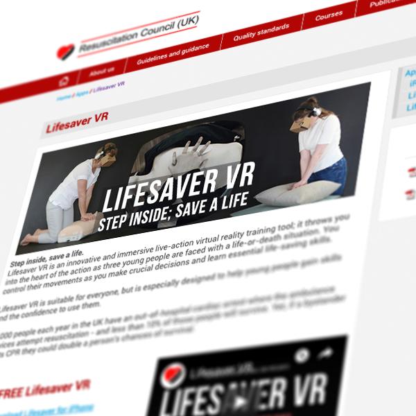 Lifesaver VR - FREE on-line training tool 5