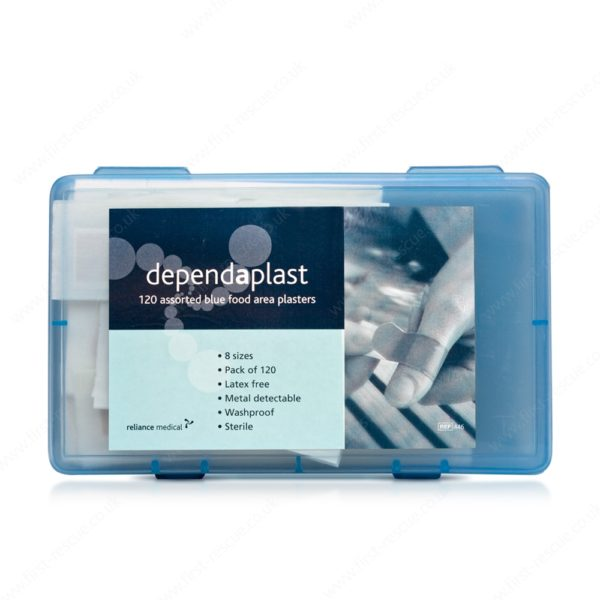 Catering plasters blue