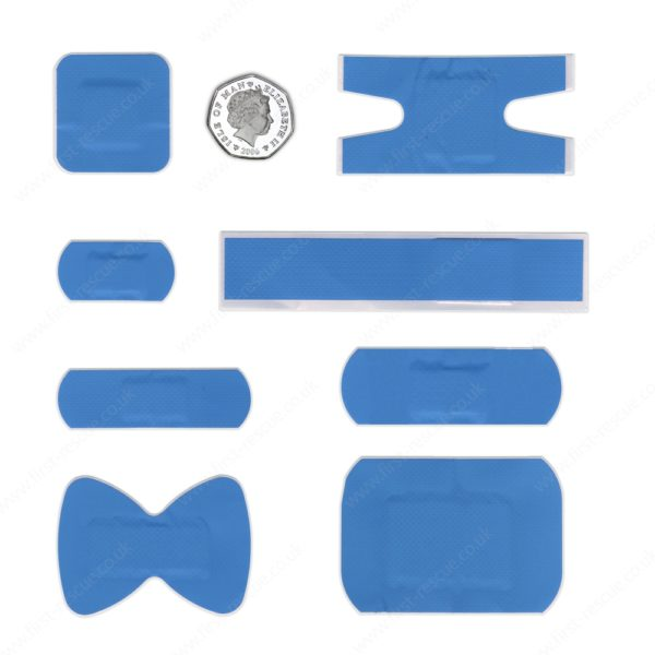 Premium Blue Assorted Catering Plasters (Box of 120) 2