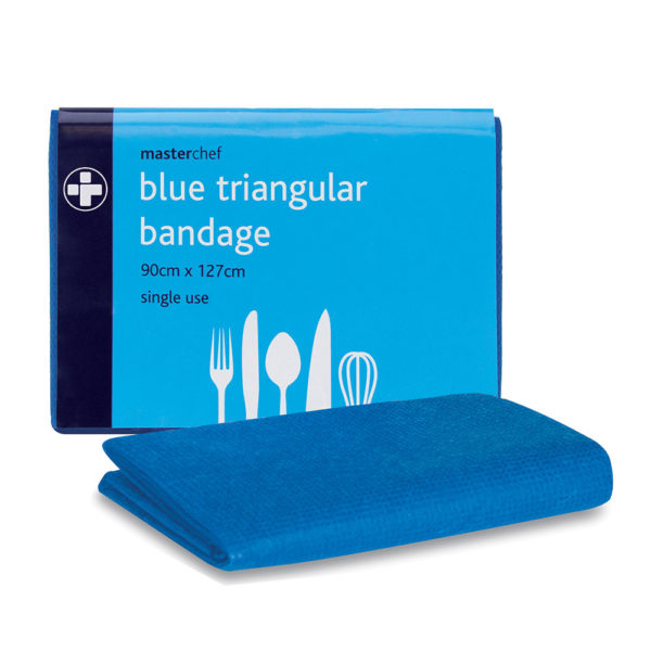 Blue catering triangular bandage