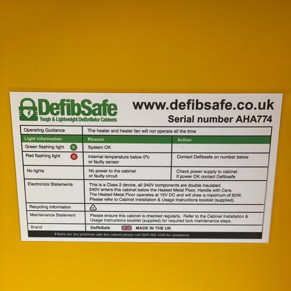 Defibsafe 2 Secure Outdoor AED Cabinet no lock