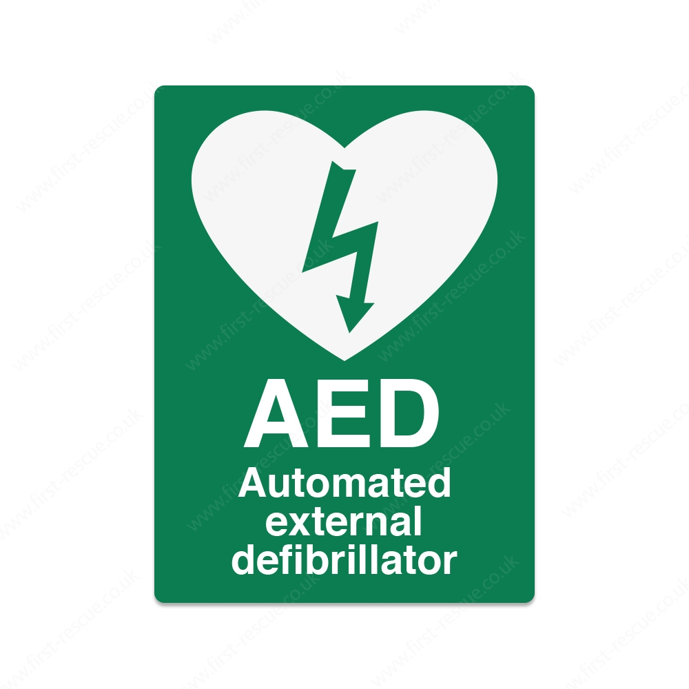 AED Wall sign self adhesive vinyl