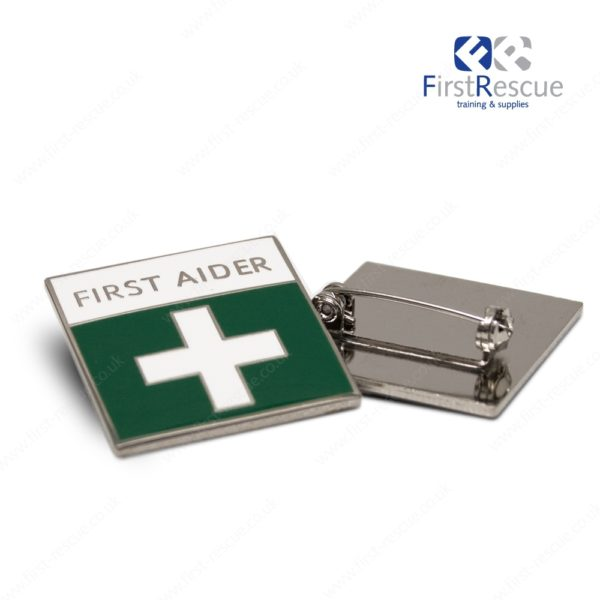 first aider pin badge