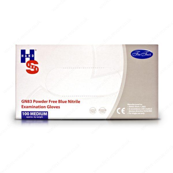 Nitrile Powder-Free Gloves Blue Medium Box of 100 1