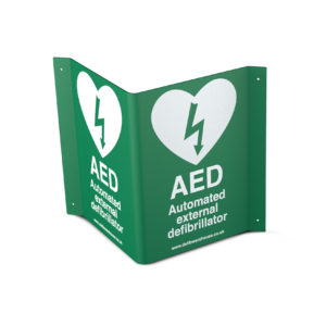 3D Steel AED Wall Sign 3