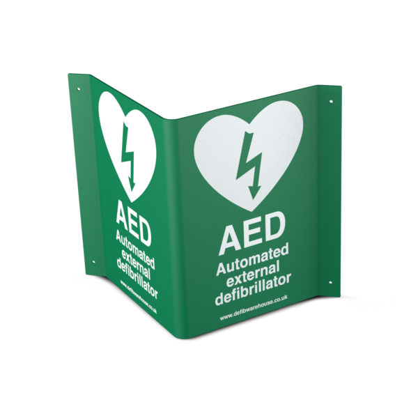 3D Steel AED / Defibrillator Wall Sign 4