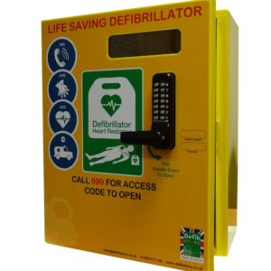 2000 Series Steel Outdoor Defibrillator Cabinet with Lock 9