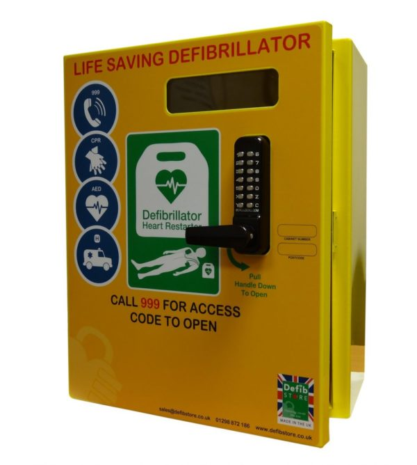 2000 Series Steel Outdoor Defibrillator Cabinet with Lock