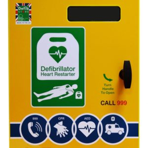 Defib Store 2000 Steel Outdoor Defibrillator Cabinet Non Locking