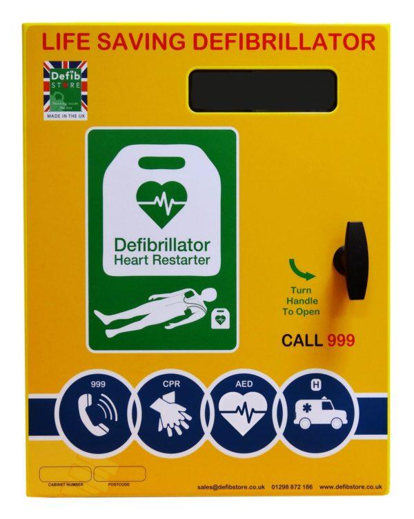 Defib Store 2000 Steel Outdoor Defibrillator Cabinet Non Locking