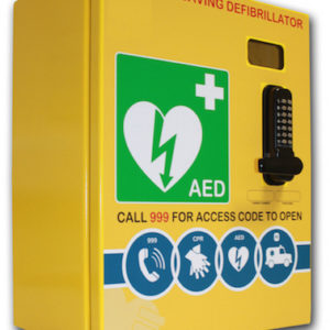 AED Steel cabinet with lock