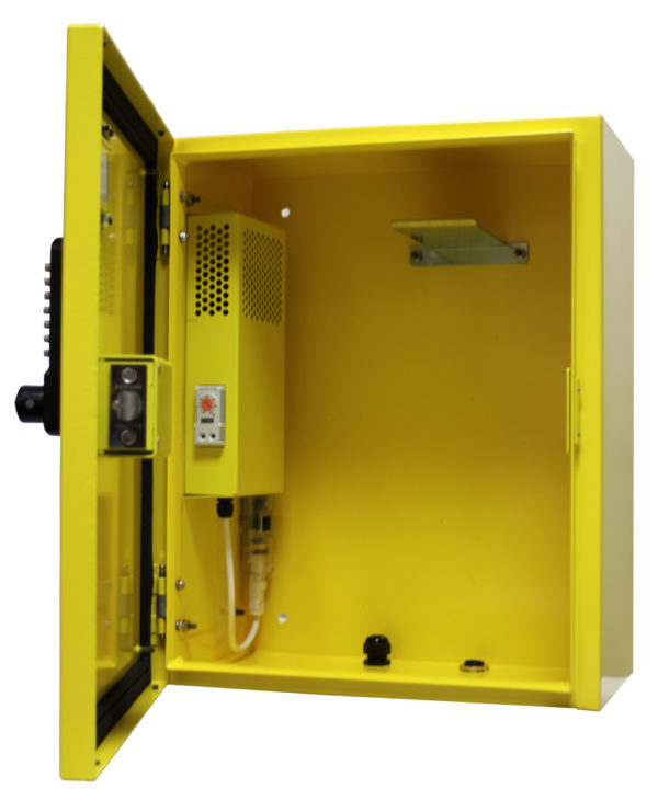 Premium Steel Outdoor Defibrillator Cabinet Non Locking 7