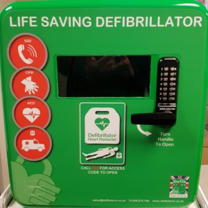 Defib Store 4000 Secure Outdoor Defibrillator Cabinet Green 4