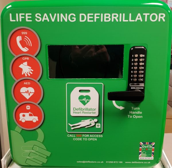 Defib Store 4000 Secure Outdoor Defibrillator Cabinet Green 5