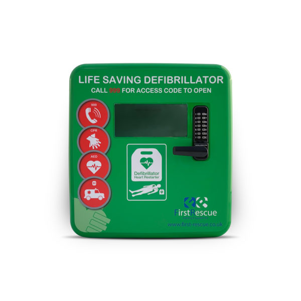 Defibstore 4000 Polycarbonate Defibrillator Cabinet Green