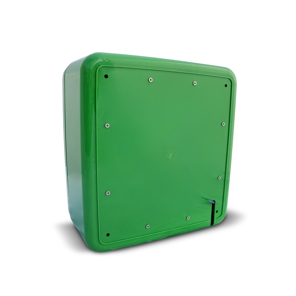 defibstore 4000 polycarbonate outdoor aed cabinet green