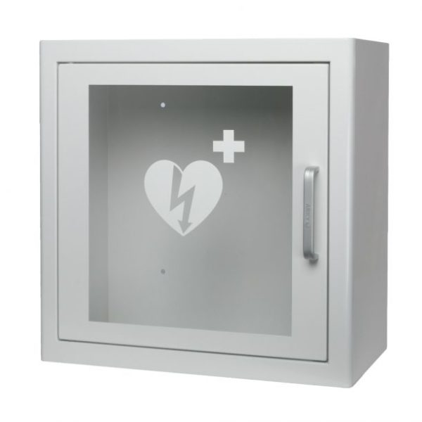 Arky White Indoor Defibrillator AED Cabinet With Alarm
