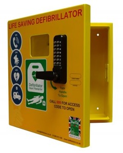 Defib Store 1000 Stainless Steel AED Cabinet Locked 1