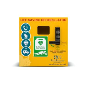 Defib Store 1000 Stainless Steel AED Cabinet Locked