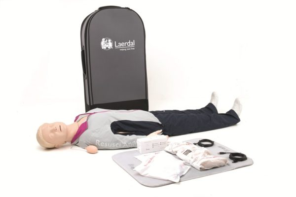 Laerdal Resusci Anne QCPR Full Body Manikin with Trolley Bag 171-01260