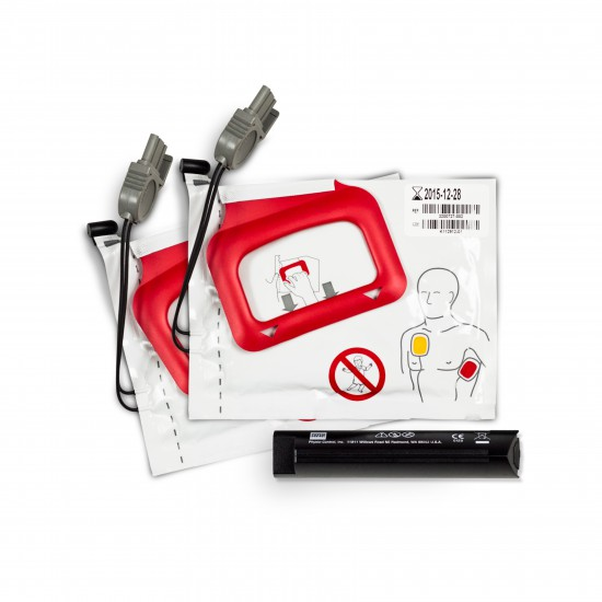 CHARGE-PAK battery charger stick and 2 sets of electrode pads