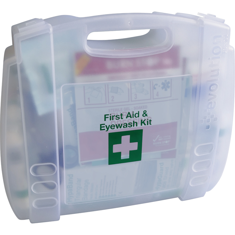Evolution British Standard Compliant First Aid & Eyewash Kit, Medium