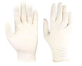 Latex Powdered Examination Gloves Medium ×100 Medical grade latex gloves. Powdered Box of 100 Medium