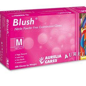 Nitrile Powder-Free Examination Gloves Pink Medium ×200