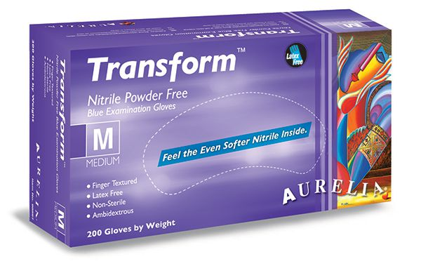 Nitrile Powder-Free Examination Gloves Blue Large ×200