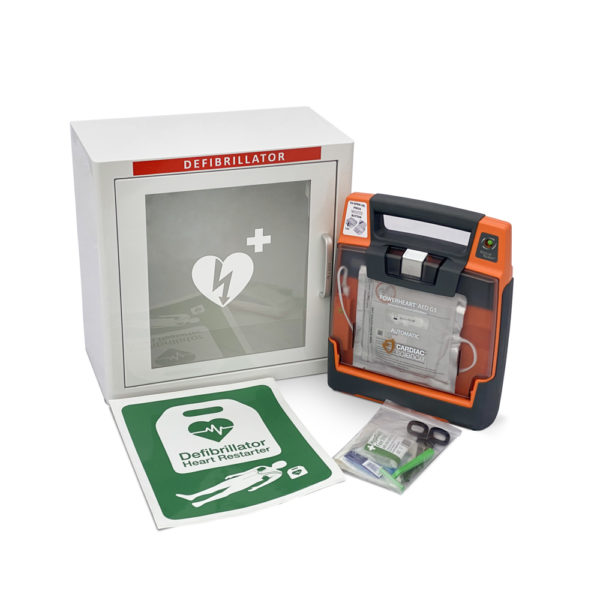 Cardiac Science Powerheart G3 Elite Fully Automatic Defibrillator Indoor Package