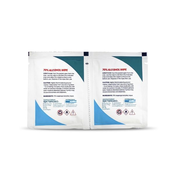 Medisanitize 70% Alcohol Wipes Flow Wrapped NEW