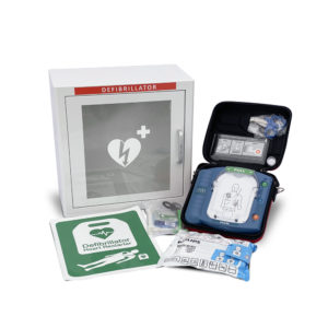 Philips HeartStart HS1 Defibrillator with Slim Carry Case Indoor Package