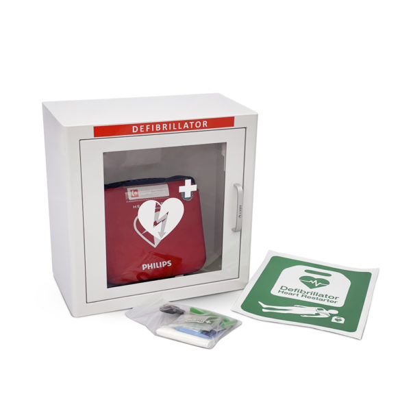 Philips HeartStart HS1 Defibrillator with Slim Carry Case Indoor Package Inside