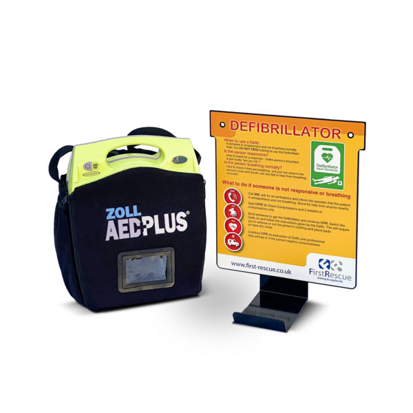 ZOLL AED Plus Fully-Automatic Defibrillator Wall Hanger Package