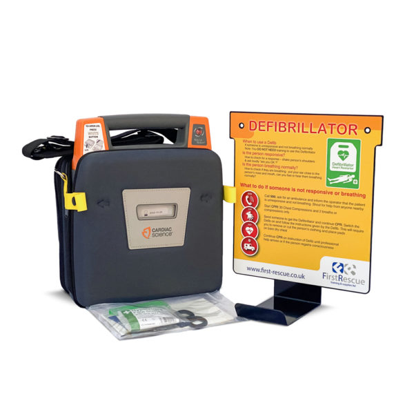 Cardiac Science Powerheart G3 Elite Fully Auto Defibrillator with Carry Case & Wall Hanger Package 1