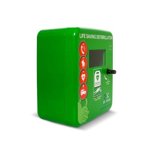 DefibStore 4000 Outdoor Defibrillator Cabinet (Non-Locking) Green 3
