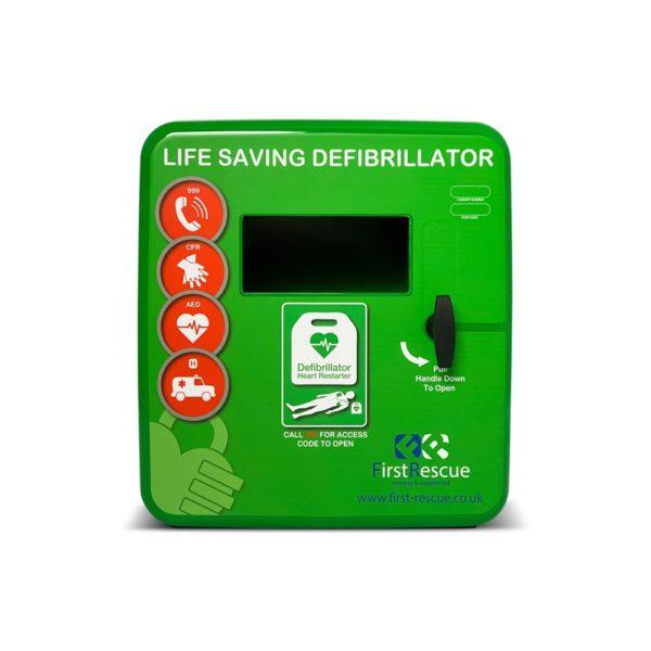 DefibStore 4000 Outdoor Defibrillator Cabinet (Non-Locking) Green
