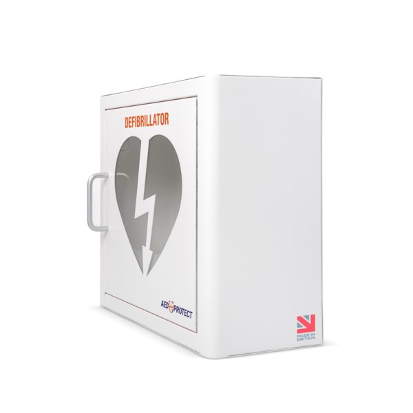 AED Protect Indoor White Cabinet with Alarm 2