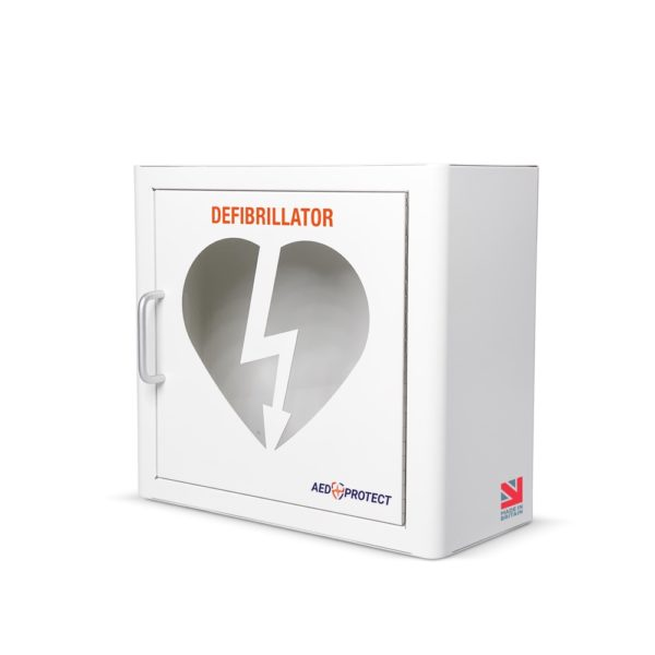 AED Protect Indoor White Cabinet with Alarm 3
