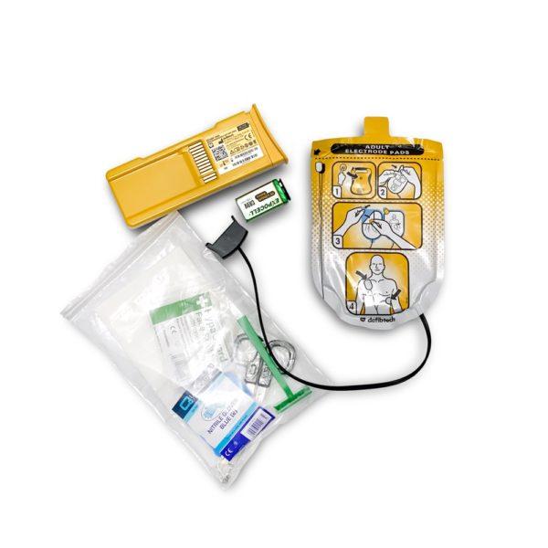 Defibtech Lifeline Adult Electrode Pads & Standard Battery Pack (5 years) Bundle 3